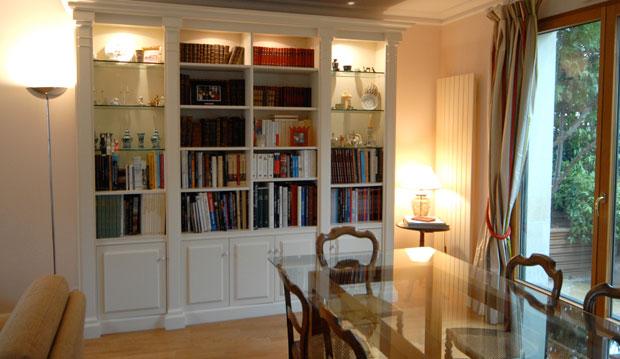 Visor cuisines for Bibliotheque avec bureau integre